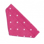 Dark Pink Spotty Cat Bandana