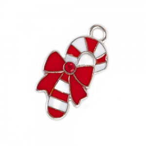Candy Cane Christmas Charm for Cat Collars