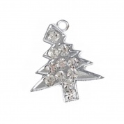 Diamante Christmas Tree Cat Collar Charm