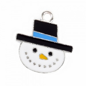 Happy Snowman Christmas Cat Collar Charm
