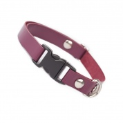 Aubergine Luxury Leather Cat Collar