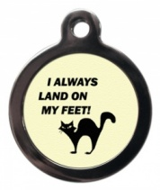 I Landed on My Feet Cat ID Tag
