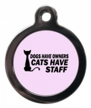 Cats Have Staff Cat ID Tag