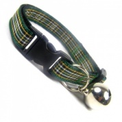 Irish Green Tartan Cat Collar