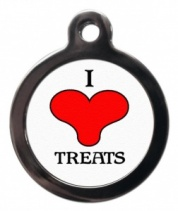 I Love Treats Cat ID Tag