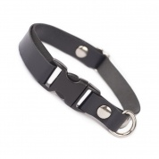 Liquorice Black Luxury Leather Cat Collar