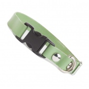 Pistachio Green Metallic Luxury Leather Cat Collar