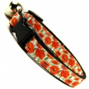 Poppy Field Collar for Cat