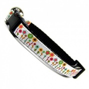 Mary Cat Collar with Pretty Flowers All In A Row