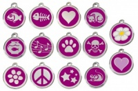 Purple Engraved Cat ID Tags