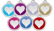 Glitter Heart Cat Tags Engraved by Red Dingo