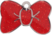 Red Tie Glitter Cat Tag