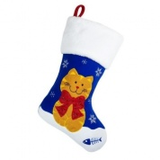 Luxury Snowy Cat Christmas Stocking for Cats