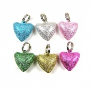 Stardust Heart Bell for Cat Collar