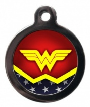 Wonder Woman Cat ID Tag