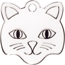 White Cat Custom Engraved Cat Tag